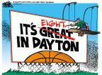 Cartoonist Mike Peters  Mike Peters' Editorial Cartoons 2014-03-28 March madness