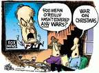 Cartoonist Mike Peters  Mike Peters' Editorial Cartoons 2015-03-05 war on Christmas