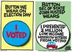Cartoonist Mike Peters  Mike Peters' Editorial Cartoons 2016-04-07 voter