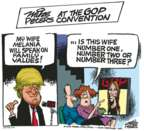 Cartoonist Mike Peters  Mike Peters' Editorial Cartoons 2016-07-19 republican convention