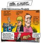 Cartoonist Mike Peters  Mike Peters' Editorial Cartoons 2016-07-22 republican convention