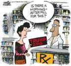Cartoonist Mike Peters  Mike Peters' Editorial Cartoons 2017-01-24 presidential