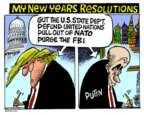 Cartoonist Mike Peters  Mike Peters' Editorial Cartoons 2017-12-28 state politician