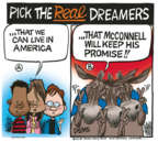 Cartoonist Mike Peters  Mike Peters' Editorial Cartoons 2018-01-24 DACA