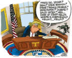 Cartoonist Mike Peters  Mike Peters' Editorial Cartoons 2018-02-14 leadership