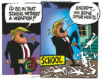Cartoonist Mike Peters  Mike Peters' Editorial Cartoons 2018-02-28 chicken bone