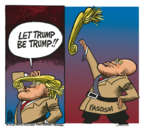 Cartoonist Mike Peters  Mike Peters' Editorial Cartoons 2018-03-14 Donald Trump hair