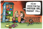 Cartoonist Mike Peters  Mike Peters' Editorial Cartoons 2018-07-27 immigration