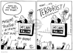 Cartoonist Joel Pett  Joel Pett's Editorial Cartoons 2008-10-14 McCain Palin
