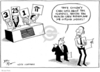 Cartoonist Joel Pett  Joel Pett's Editorial Cartoons 2009-10-05 George W. Bush economy