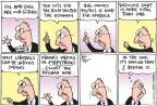 Cartoonist Joel Pett  Joel Pett's Editorial Cartoons 2010-07-25 George W. Bush economy