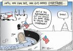 Cartoonist Joel Pett  Joel Pett's Editorial Cartoons 2010-11-16 tax increase