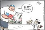 Cartoonist Joel Pett  Joel Pett's Editorial Cartoons 2011-06-14 international crisis