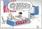 Cartoonist Joel Pett  Joel Pett's Editorial Cartoons 2012-11-06 voter apathy