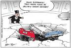 Cartoonist Joel Pett  Joel Pett's Editorial Cartoons 2014-02-14 muscle