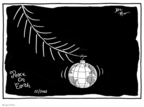 Cartoonist Joel Pett  Joel Pett's Editorial Cartoons 2002-12-24 Christmas