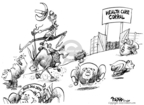 Cartoonist Dwane Powell  Dwane Powell's Editorial Cartoons 2009-07-24 dog