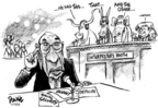 Cartoonist Dwane Powell  Dwane Powell's Editorial Cartoons 2005-02-18 George W. Bush congress