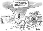 Cartoonist Dwane Powell  Dwane Powell's Editorial Cartoons 2004-12-08 muscle