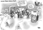 Cartoonist Dwane Powell  Dwane Powell's Editorial Cartoons 2004-12-27 circle