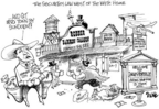 Cartoonist Dwane Powell  Dwane Powell's Editorial Cartoons 2005-06-04 cronyism