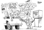 Cartoonist Dwane Powell  Dwane Powell's Editorial Cartoons 2005-07-04 cost