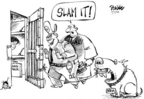Cartoonist Dwane Powell  Dwane Powell's Editorial Cartoons 2005-07-07 dog
