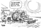 Cartoonist Dwane Powell  Dwane Powell's Editorial Cartoons 2005-07-27 summer vacation