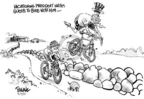 Cartoonist Dwane Powell  Dwane Powell's Editorial Cartoons 2005-08-18 bicycle