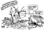 Cartoonist Dwane Powell  Dwane Powell's Editorial Cartoons 2005-09-28 cronyism
