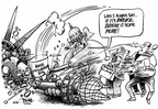 Cartoonist Dwane Powell  Dwane Powell's Editorial Cartoons 2005-12-15 patrol