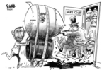 Cartoonist Dwane Powell  Dwane Powell's Editorial Cartoons 2006-03-15 president
