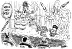 Cartoonist Dwane Powell  Dwane Powell's Editorial Cartoons 2006-07-06 United States
