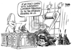 Cartoonist Dwane Powell  Dwane Powell's Editorial Cartoons 2007-06-24 George W. Bush congress