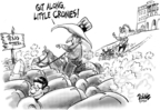 Cartoonist Dwane Powell  Dwane Powell's Editorial Cartoons 2007-08-30 president