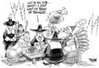 Cartoonist Dwane Powell  Dwane Powell's Editorial Cartoons 2007-11-23 Christmas marketing