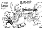 Cartoonist Dwane Powell  Dwane Powell's Editorial Cartoons 2008-08-13 animal