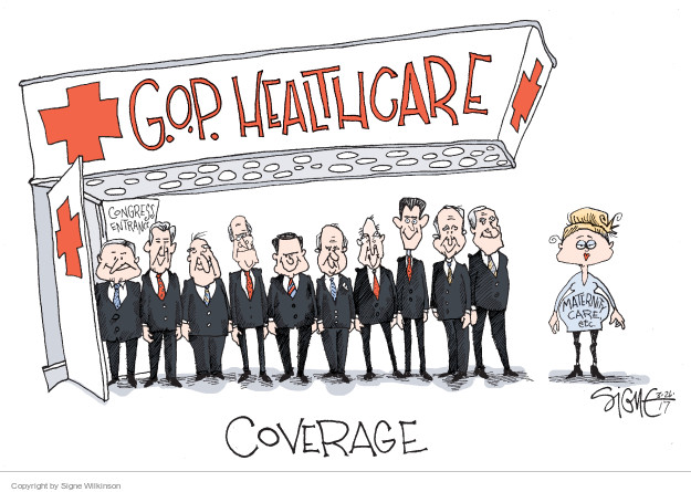 G.O.P. Healthcare. Congress entrance. Maternity Care, etc. Coverage.