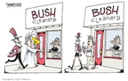 Cartoonist Signe Wilkinson  Signe Wilkinson's Editorial Cartoons 2008-11-24 George W. Bush economy