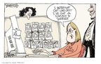 Cartoonist Signe Wilkinson  Signe Wilkinson's Editorial Cartoons 2009-02-16 newborn