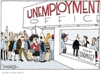 Cartoonist Signe Wilkinson  Signe Wilkinson's Editorial Cartoons 2009-03-13 unemployment