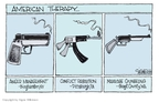 Cartoonist Signe Wilkinson  Signe Wilkinson's Editorial Cartoons 2009-04-07 Pittsburgh Synagogue Shooting