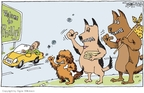 Cartoonist Signe Wilkinson  Signe Wilkinson's Editorial Cartoons 2009-08-15 dog