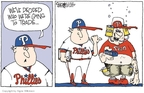 Cartoonist Signe Wilkinson  Signe Wilkinson's Editorial Cartoons 2009-07-28 baseball