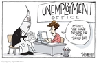 Cartoonist Signe Wilkinson  Signe Wilkinson's Editorial Cartoons 2009-09-25 unemployment