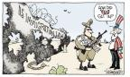 Cartoonist Signe Wilkinson  Signe Wilkinson's Editorial Cartoons 2010-04-28 border fence