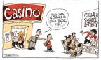 Cartoonist Signe Wilkinson  Signe Wilkinson's Editorial Cartoons 2010-09-28 lottery