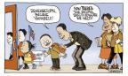 Cartoonist Signe Wilkinson  Signe Wilkinson's Editorial Cartoons 2011-04-05 elementary school