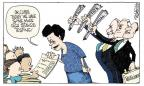 Cartoonist Signe Wilkinson  Signe Wilkinson's Editorial Cartoons 2011-07-20 education