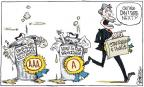 Cartoonist Signe Wilkinson  Signe Wilkinson's Editorial Cartoons 2011-08-10 credit rating
